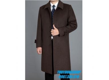 Mẫu áo khoác dạ nam dài trung tuổi trung niên nổi bật năm nay