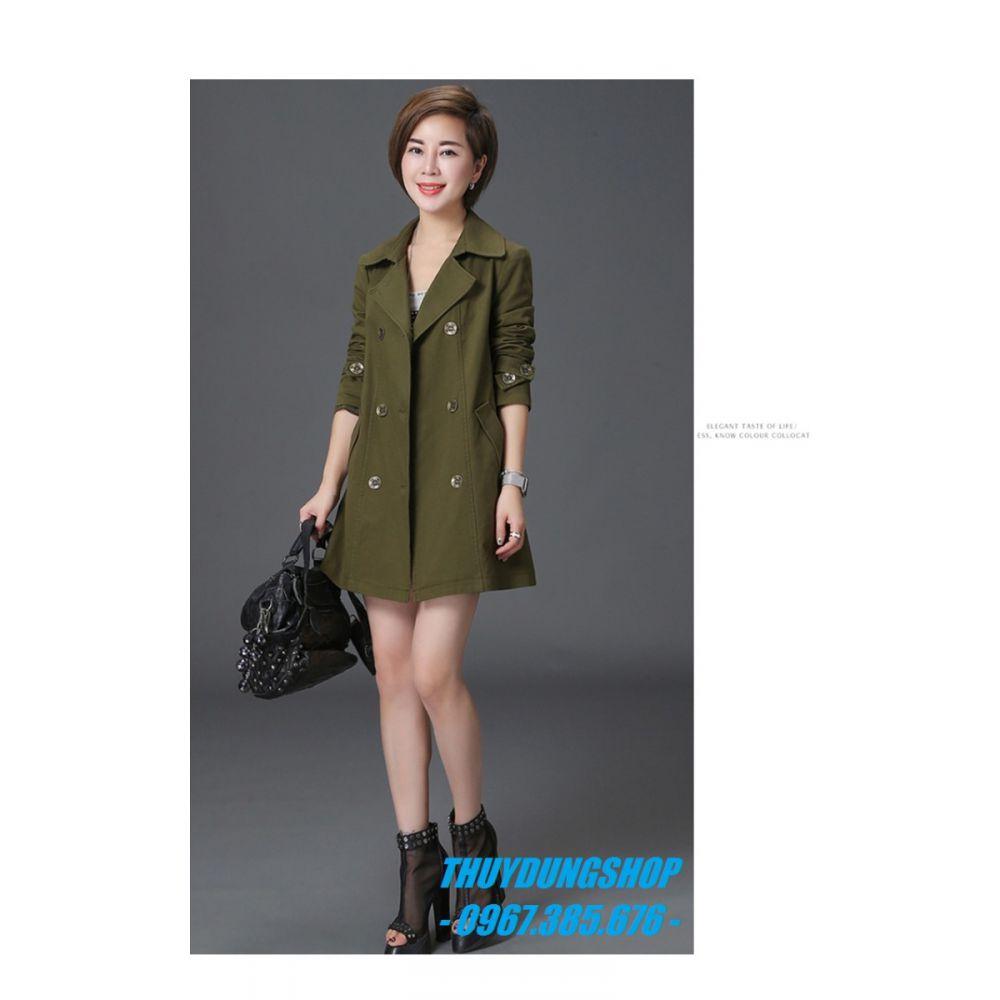Áo khoác măng tô nữ dáng suông quý phái GMT26