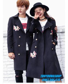 Áo khoác đôi dáng dài trẻ trung phong cách AC12