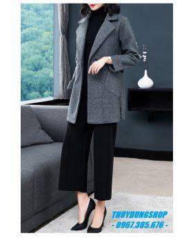 Áo khoác dạ nữ dáng ngắn nữ tính GKD27