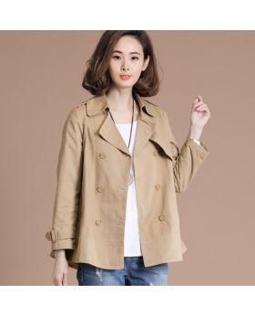 Áo khoác măng tô nữ cổ vest dáng suông GMT32