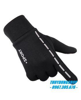 Găng tay nam sport đệm cao su chống trơn GNA06