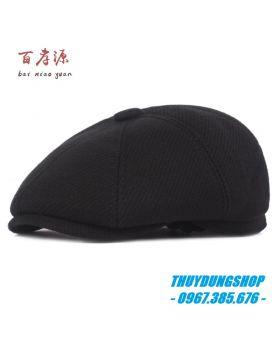 Mũ beret nam trung niên chất vải dạ MNA23