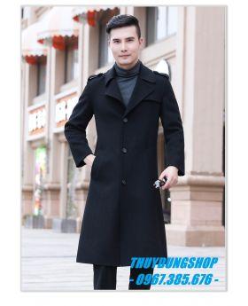 Áo khoác dạ nam phong cách quý ông, hàng hiệu cao cấp NAD40