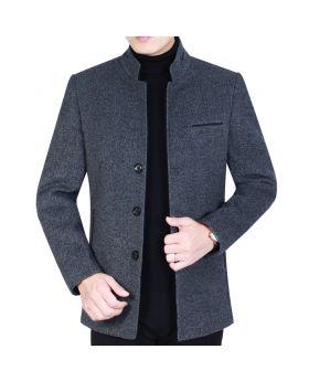 Áo khoác dạ nam dáng ngắn cổ đứng mẫu mới NAD53