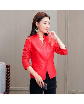 Áo da nữ thời trang dáng vest ND01