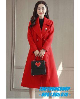 Áo khoác dạ nữ dáng dài GKD01