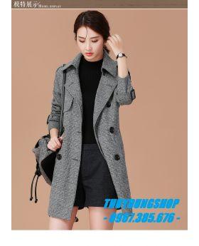 Áo khoác dạ nữ dáng lửng GKD02