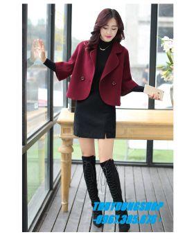 Áo khoác dạ nữ trẻ cổ vest GKD08