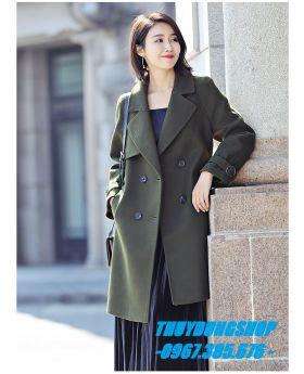 Áo khoác dạ nữ dáng dài GKD10