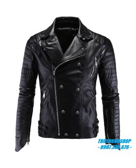 Áo da nam biker jacket đẹp DNA06