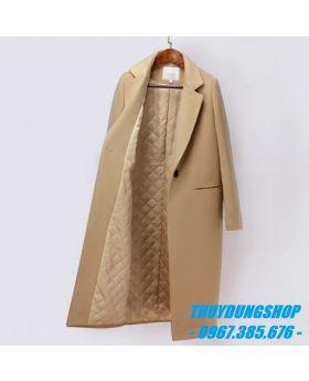 Áo khoác dạ nữ dáng xuông 2 lớp GKD20