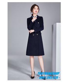 Áo khoác dạ nữ dáng măng tô GKD21