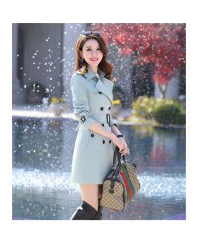 Áo khoác măng tô nữ dáng lửng hàn quốc phong cách trang trọng GMT01