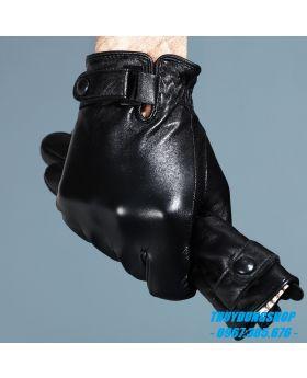 Găng tay nam da lót lông GNA01