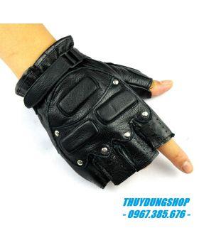 Găng tay da nam hở ngón GNA04
