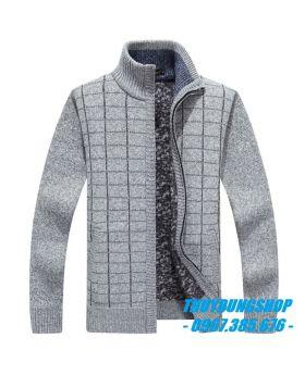 Áo len nam khóa kéo đẹp mẫu 2019 LNA08