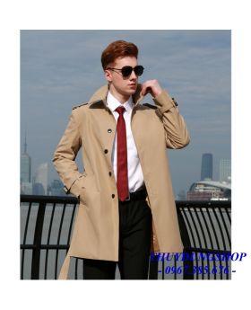 Áo khoác măng tô nam thanh niên dáng lửng đẳng cấp đẹp trai NMT55