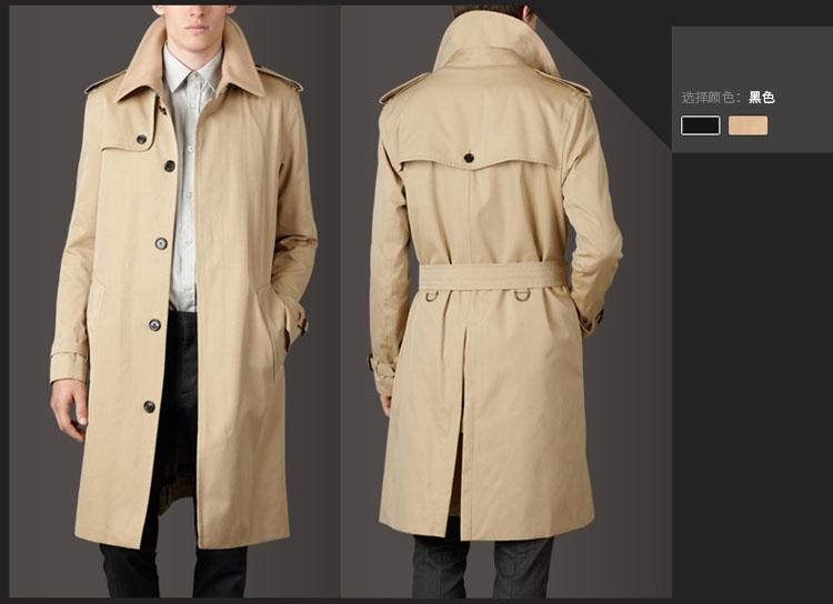 Áo khoác măng tô nam dáng dài cao cấp cổ đức NMT30